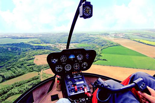 Let vrtulníkem